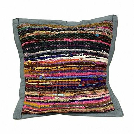 Ancient Wisdom Rug Cushion Cover - Stone