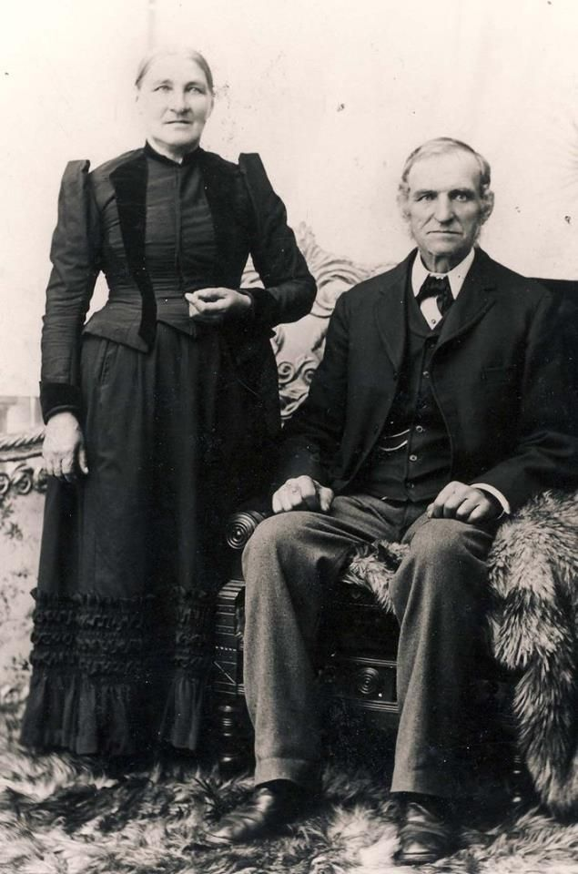 Lloyd Ptacek: This is my Great Grandmother and Great Grandfather who brought their 7 children to the United States from Bohemia in 1869. The y settled in Cleveland, Ohio where some of their descendants still live. Several of the family moved to Nebraska in the early 1880's. My father Charels J Ptacek first came to North Dakota in 1905 to harvest wheat. He bought the quarter where LaVerne and I now live in 1908.