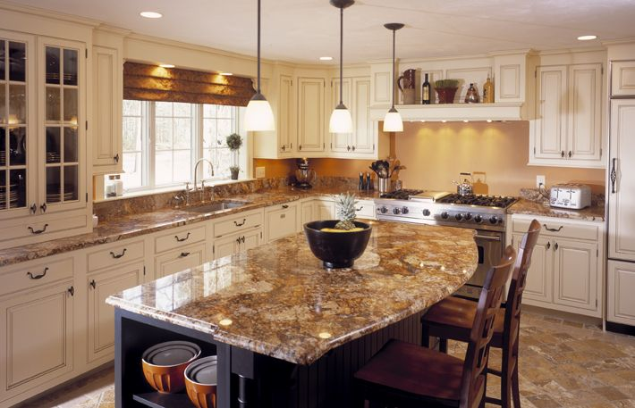 Golden Crystal Granite White Cabinets Kitchen Ideas