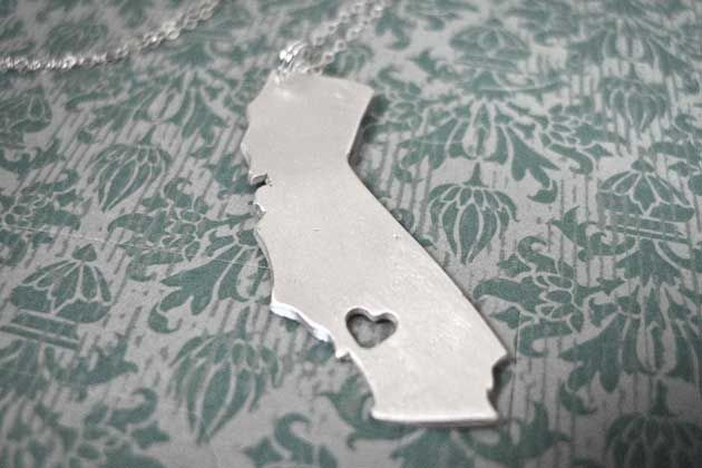 I Heart California (or Whatever Your State Is!) Necklace