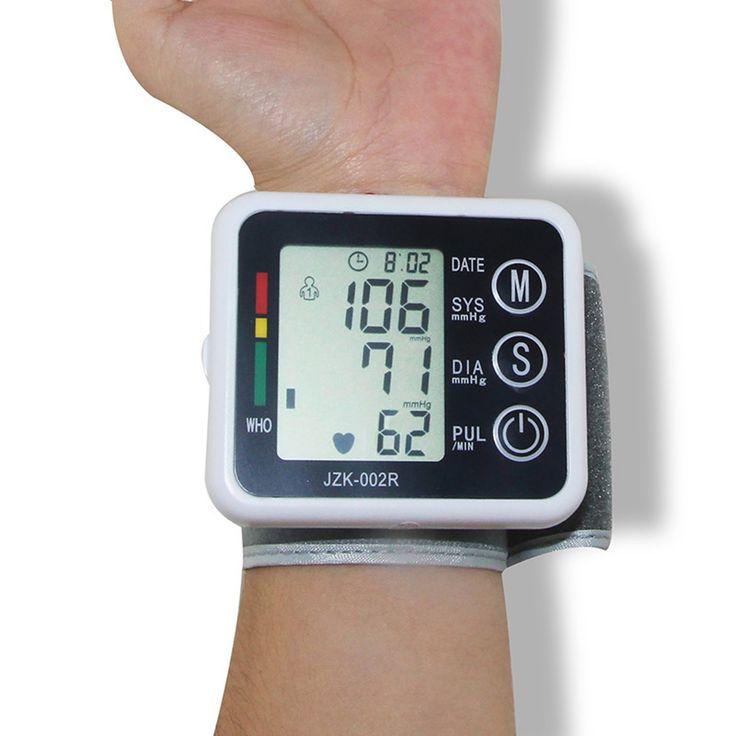 Casa de saúde automático de pulso digital lcd monitor de pressão arterial tonômetro portátil medidor para medir a taxa de pulso 20 pçs/lote alishoppbrasil