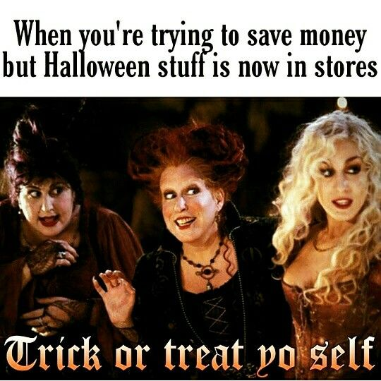 Trying to save money but there's Halloween stuff
