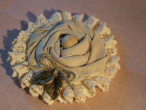 Текстильная брошь в стиле бохо. - Ярмарка Мастеров - ручная работа, handmade