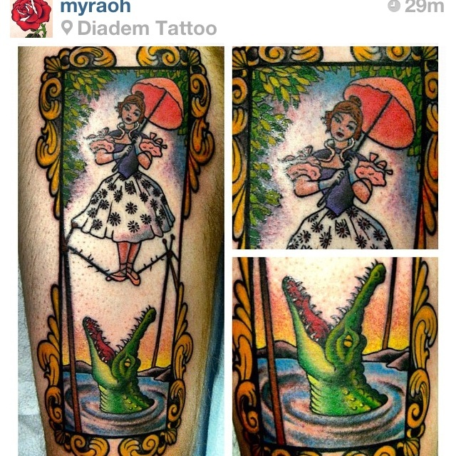 I love this Haunted Mansion tattoo so much.  It's so cool!
