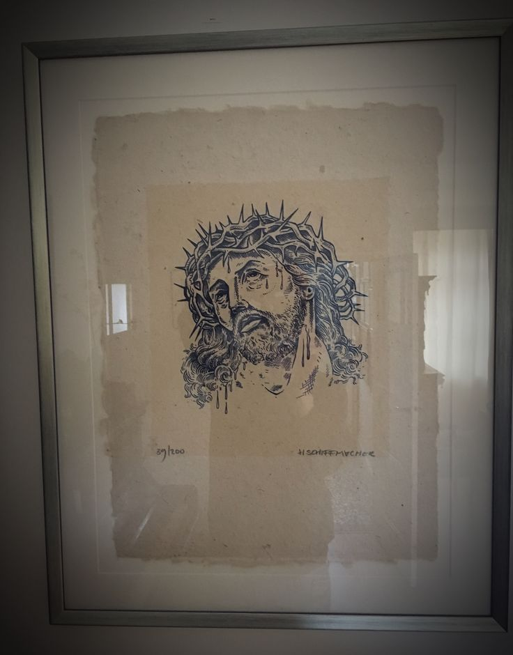 My collection - drawing Jesus Christ Made by Henk Schiffmacher