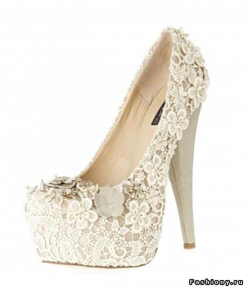 Обувь кружевная