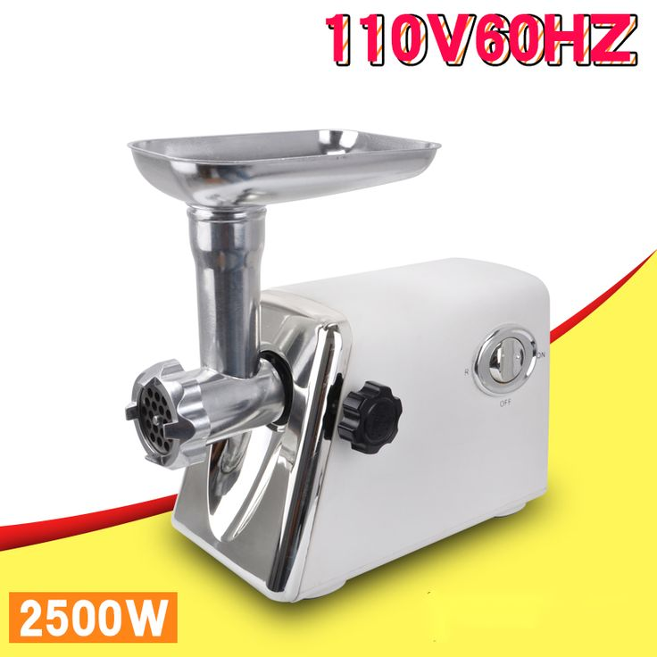 Household 110V electric meat grinder/Mincer stainless steel multi-function meat/vegetable grinding machine + sausage stuffer#stuffer