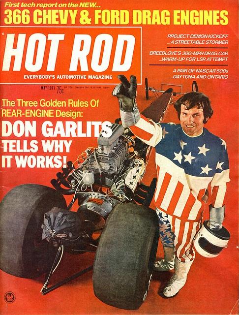 May 1971 Don Garlits rear engined dragster