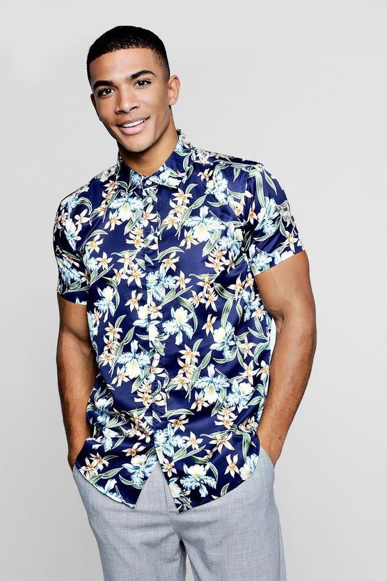 97497d6961be2 Floral Print Short Sleeve Shirt