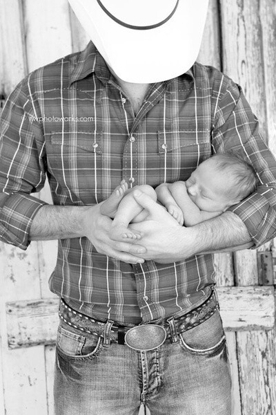 @Megan Ward Myers     Cowboy Holding His Newborn Baby # photography # Country # Sweet