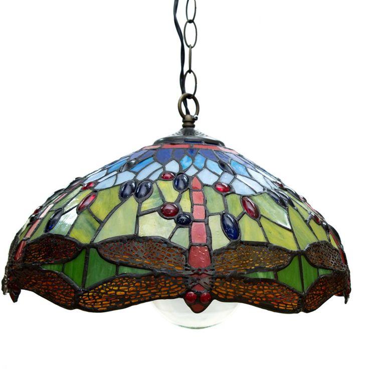 Colgante Tiffany Energy led cristal de colores