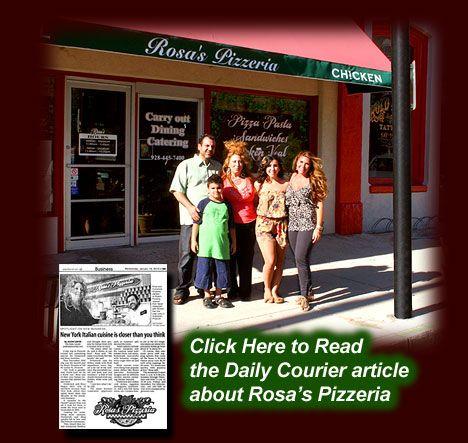 A Rosa's Pizza & Pizzeria and Fine Italian Food Restaurant in Prescott AZ Home Page