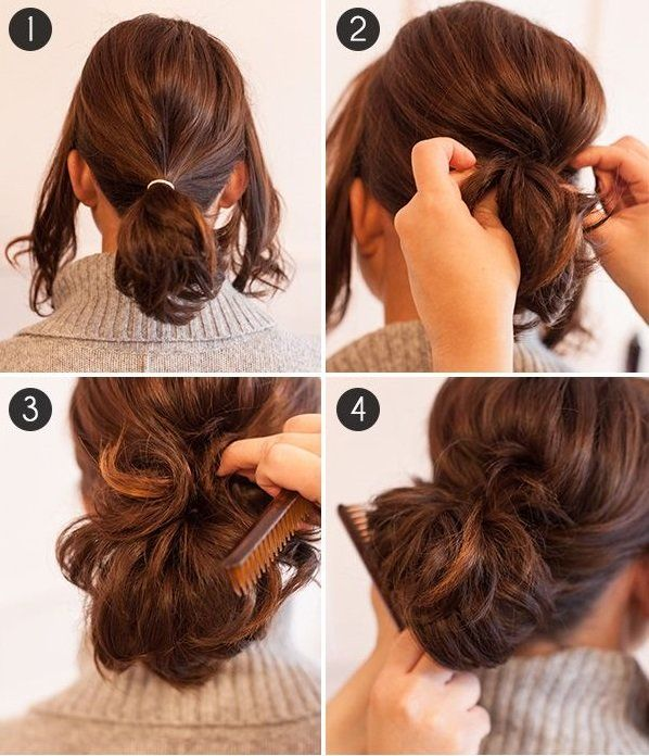 easy ponytail styles for medium hair hairstyles with a ponytail holder hair 6650
