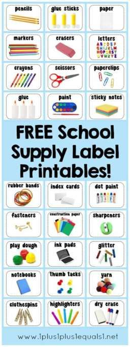 *FREE* Printable School Supply Labels