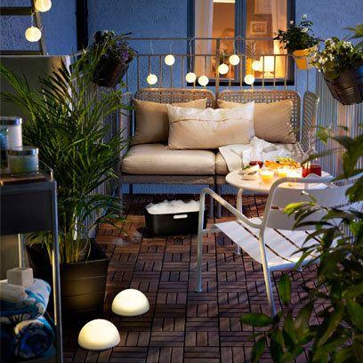 Small garden ideas, outside lighting