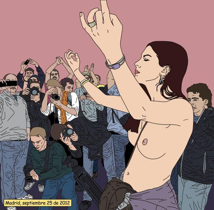 María Acha-Kutscher comenzó con el movimiento 15M en Madrid su serie 'Indignadas'
