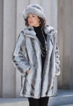 Roamans Plus Size Short Faux Fur Coat