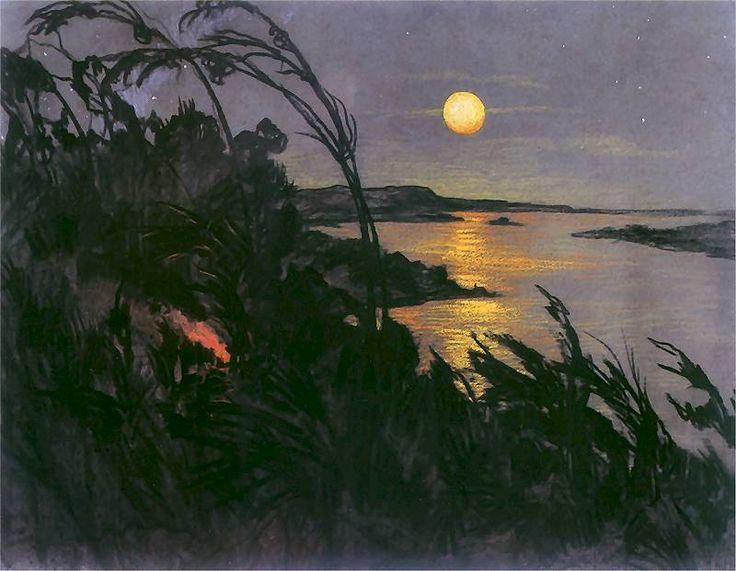 Australian Landscape - Stanislaw Ignacy Witkiewicz, 1918   pastel, crayon, charcoal on paper
