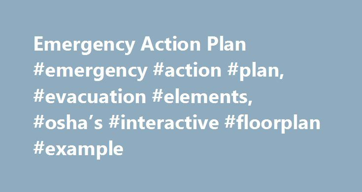 Emergency Action Plan #emergency #action #plan, #evacuation - emergency action plan sample