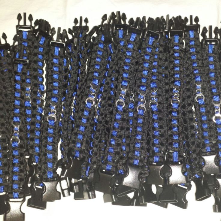 Now that's a lot of thin blue line bracelets w/ handcuffs! Only $6!