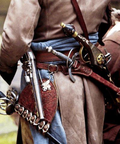 musketeer uniform delightfully detailed.