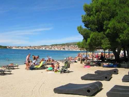 Sandy and pebble beaches in Vodice