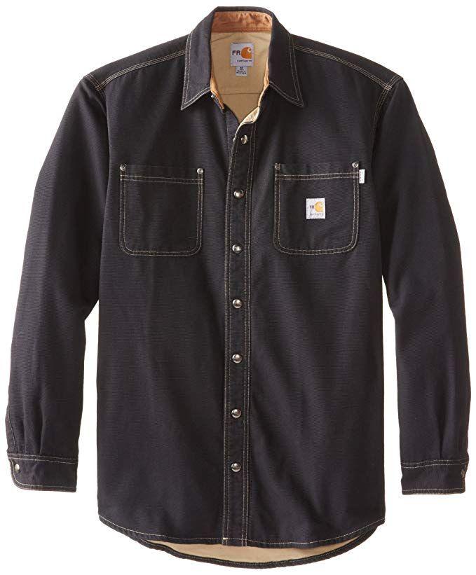 62a327d8f6ea Carhartt Men s Big   Tall Flame Resistant Canvas Shirt Jacket Review ...