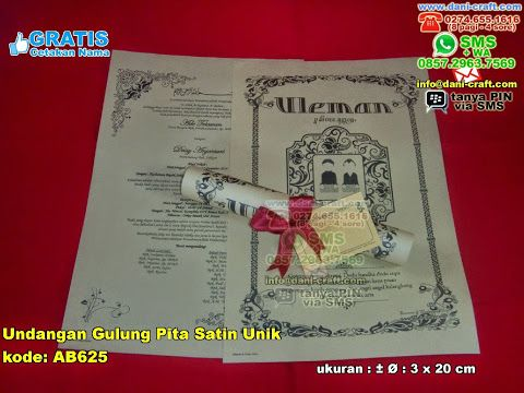 Undangan Gulung Pita Satin Unik WA/SMS/Telp : 082324687800 Pin BBM : 5D1A4BF2  #UndanganUnik #UndanganGulung #UndanganPita #UndanganKeren #UndanganPernikahan #UndanganAntik #UndanganLangka #UndanganKece #UndanganGulung #TokoGulung #souvenirPernikahan