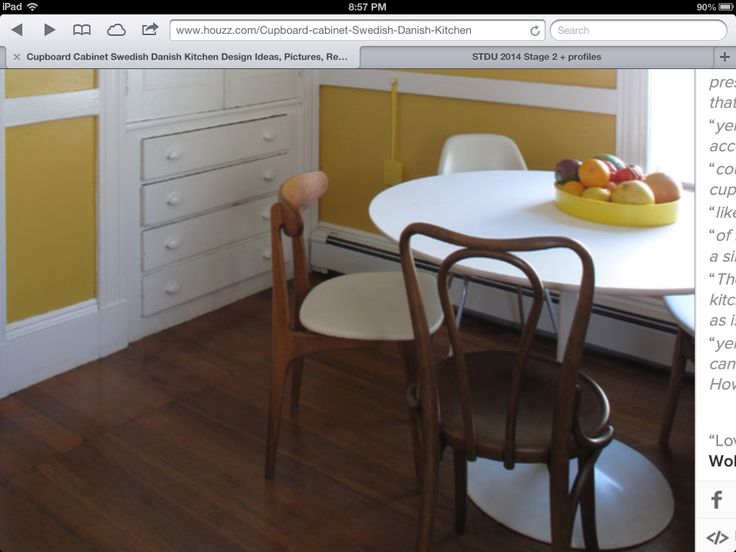 Dining chair with white cushion