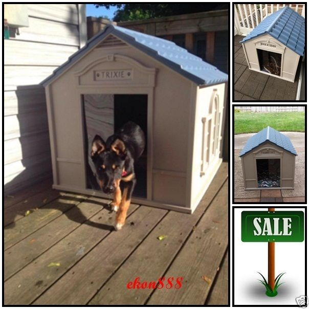 Large Outdoor Dog House Cage Puppy Kennel Dwelling Strong Yard All Weather Big