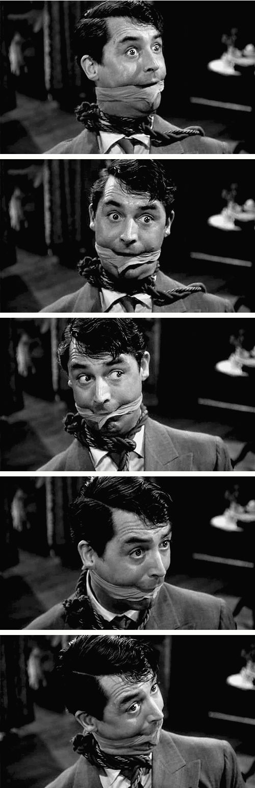 Cary Grant in Arsenic and Old Lace (1944) hahaha Gosh I LOVE this movie!!!  hahahaha