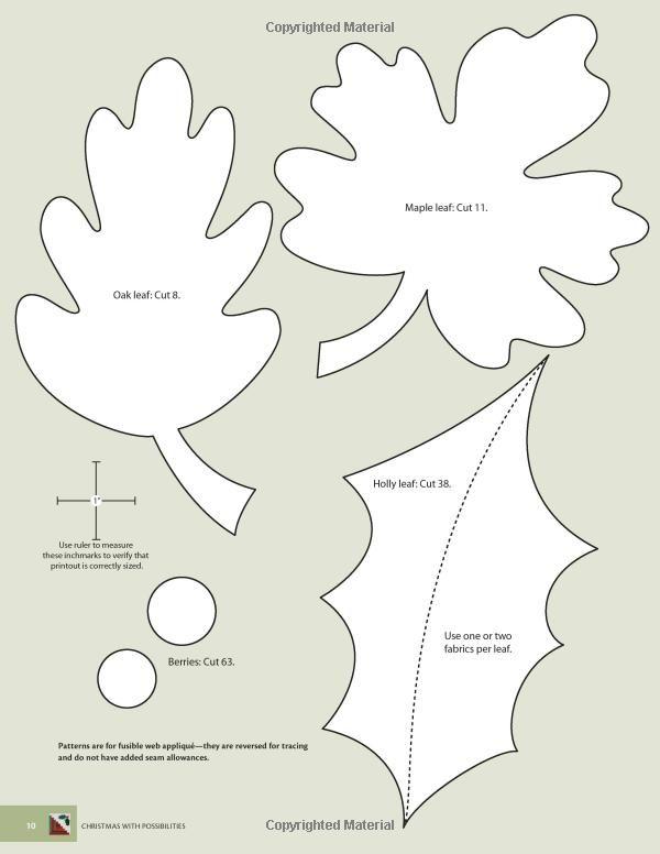 1685 best applique images on Pinterest - leaf template