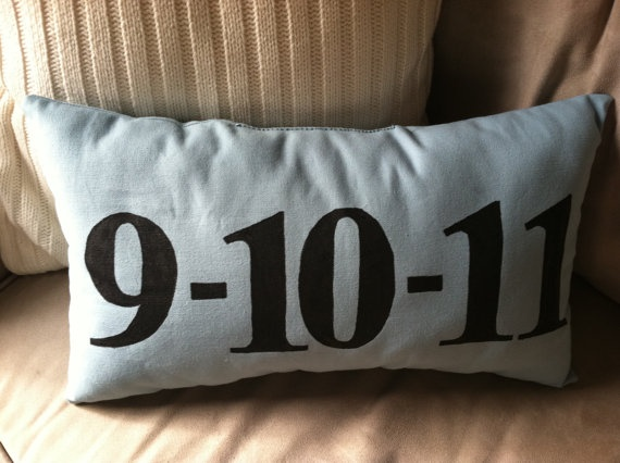 Cute throw pillow idea for our bed. Obviously would have our wedding date on it! :)