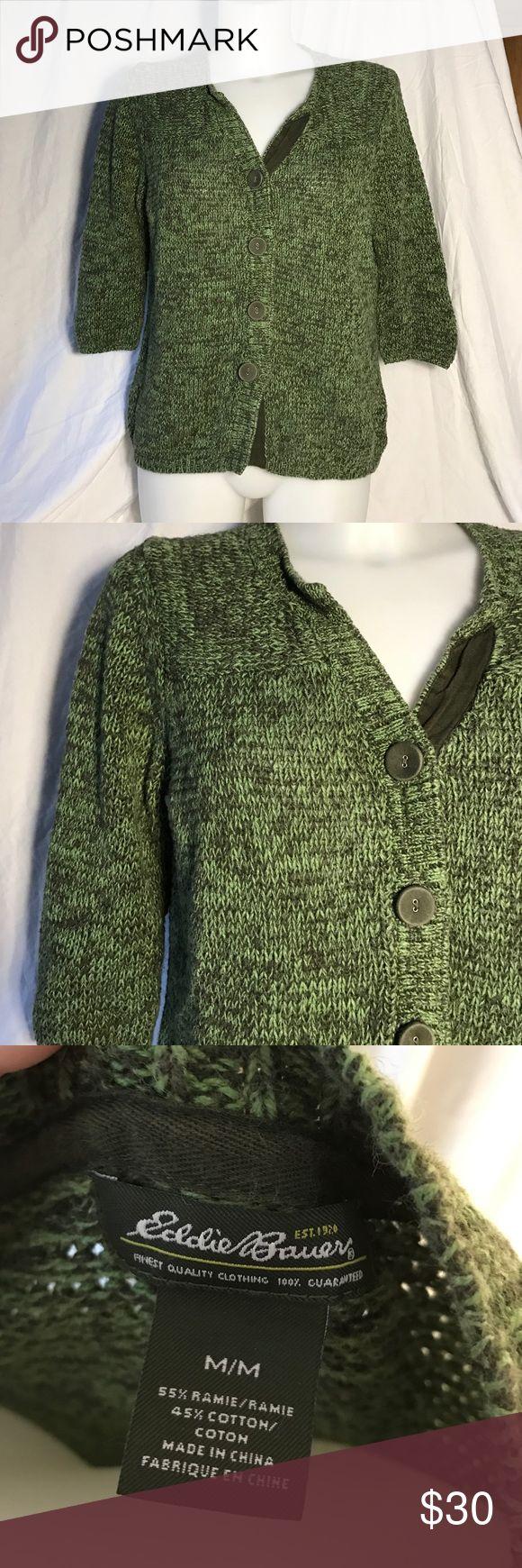 Eddie Bauer heathered green cardigan Olive green heathered cardigan Eddie Bauer Sweaters Cardigans