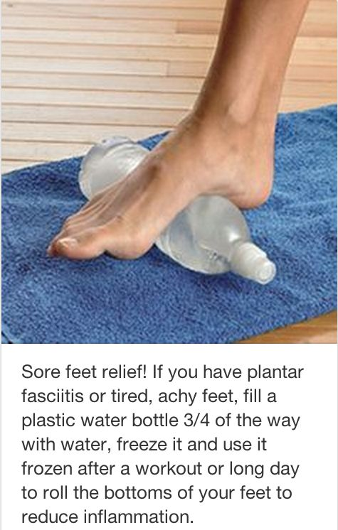 Twitter-Sore feet relief More
