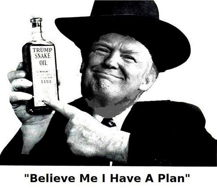 Don the Con Trump, I DON'T believe you have a plan or even a clue, now or ever!!