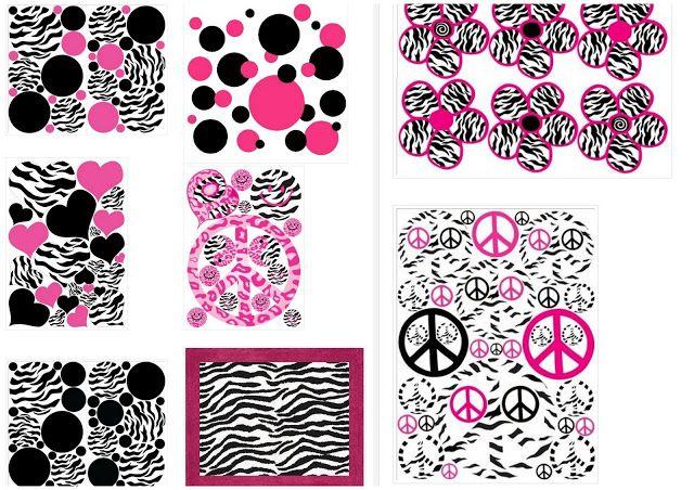 Cebra y Rosa: Fondos para Imprimir Gratis.