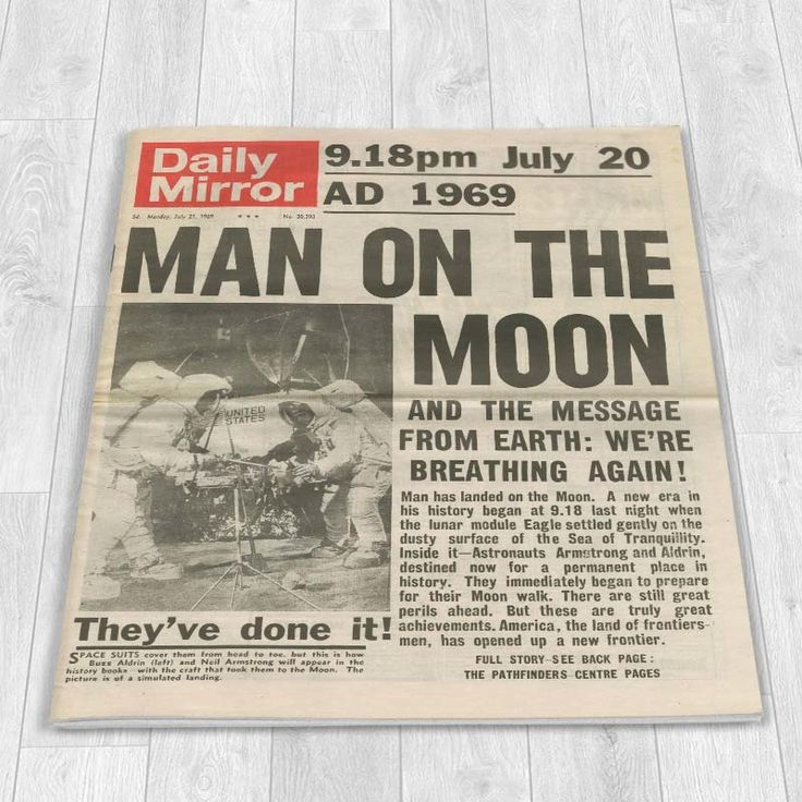 I Just Love It Moon Landing 1969 Newspaper Moon Landing 1969 Newspaper - Gift Details. Neil Armstrong?s giant leap for mankind is one of history?s greatest events to date. Now you can relive this moment with a spectacularly reproduced 1969 mo http://www.MightGet.com/may-2017-1/i-just-love-it-moon-landing-1969-newspaper.asp