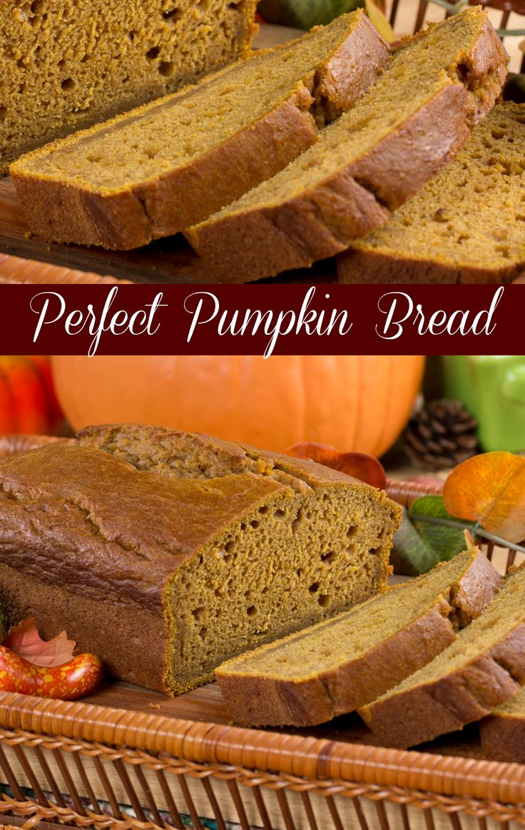 Perfect Pumpkin Bread uses Greek yogurt to make this easy sweet bread recipe super moist and always delicious. #pumpkin #pumpkindessert #bread