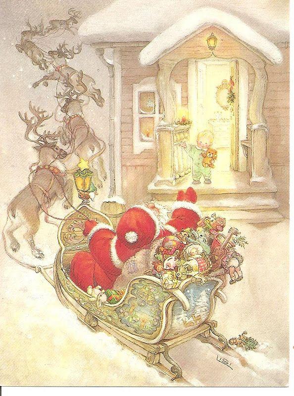 Рождественское чудо старинные открытки и иллюстрации