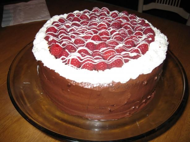 Chocolate Layer Cake With Raspberry Cream Filling Recipe - Food.com ...