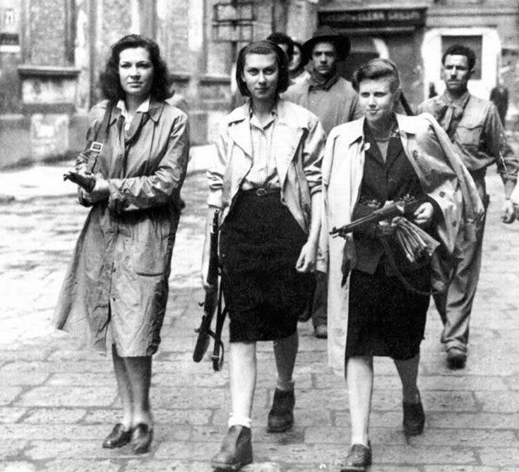 Mujeres en la Resistencia francesa, II Guerra Mundial.