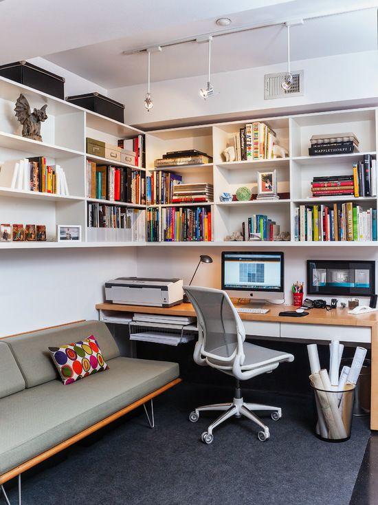 20 moderne Home Office Design-Ideen für einen trendigen Arbeitsplatz