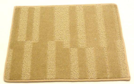 "Wool Door Mat Weave Tuft Area Rug 14"" x 18"" Plateau Camel 100% Wool New Zeland on Etsy, $5.00"