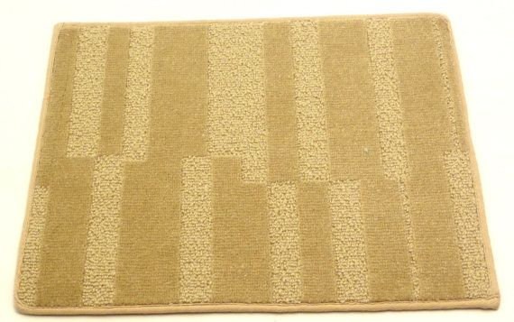 "Wool Door Mat Weave Tuft Area Rug 14"" x 18"" Plateau Camel 100% Wool New Zeland on Etsy, $5.00"