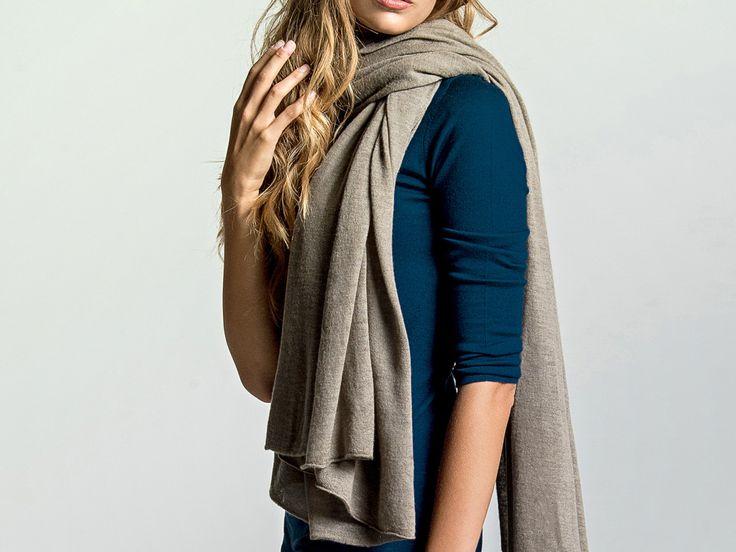 LOOM – Greige cashmere scarf