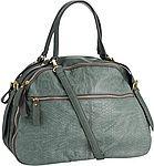 сумка, женская, зеленая, кожаная, с принтом, змея, на плечо, большая