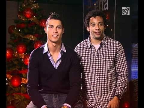 Ver Tomas falsas felicitaciones navideñas Real Madrid/ Real Madrid Christmas pranks HD