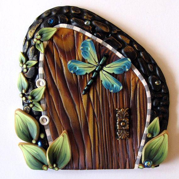 224 best dragonfly stuff images on pinterest butterflies for Fairy door wall art