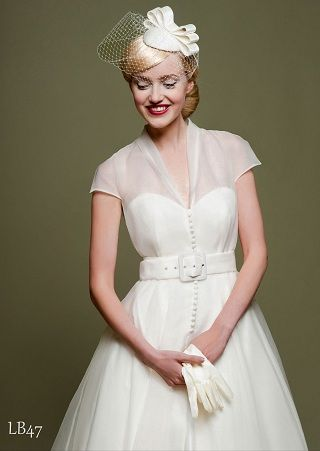 Tea Length Wedding Dresses:: Rockabilly Wedding:: Retro Wedding:: Short Wedding Dresses
